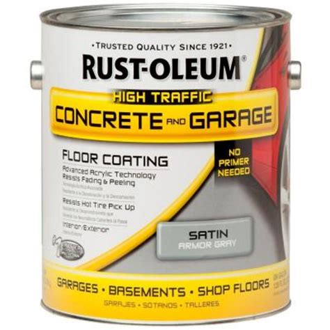 Home Depot Floor Paint by Rust Oleum Epoxyshield 1 Gal Armor Gray Concrete Floor