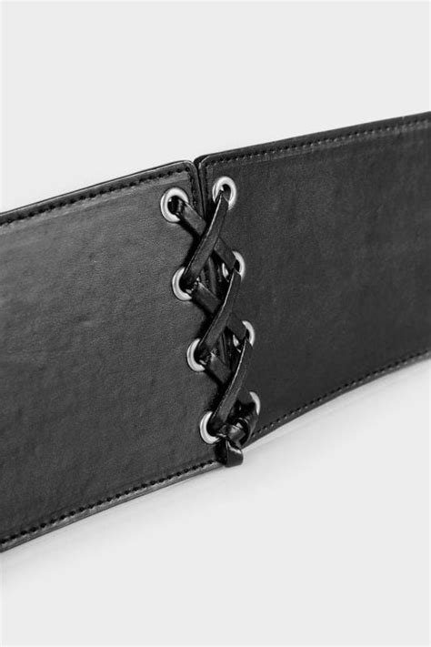 Black Lace Up Belt, Plus size 16 to 30