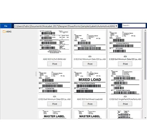 design form labels pages barcodes for business