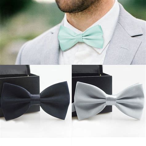 7 Of The Coolest Ties by Fashion Bow Ties For Bowtie Tuxedo Classic Solid Color