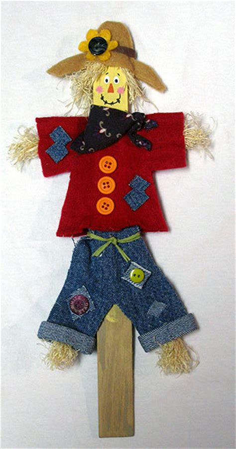 scarecrow craft for paint stick scarecrow crafts by amanda