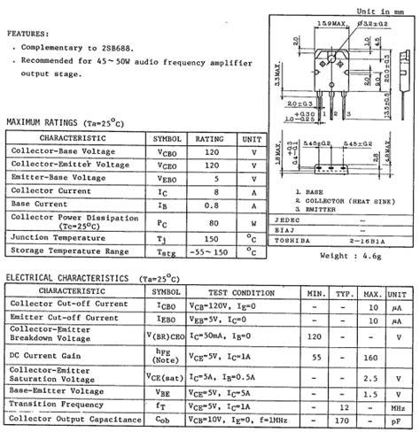 datasheet c828 transistor pdf d718 datasheet d718 pdf pinouts circuit toshiba