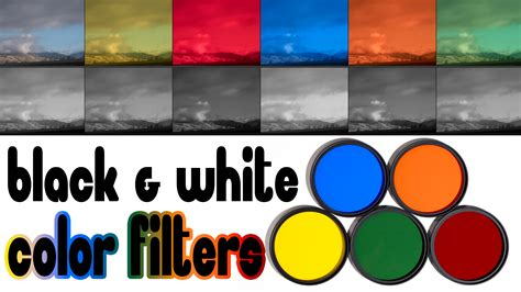 color filter color filters for black white photography