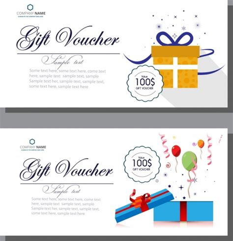 coupon template for adobe illustrator gift voucher templates calligraphy balloons present boxes
