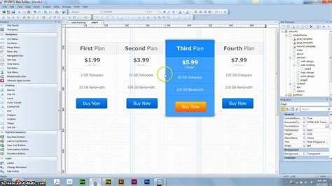 tutorial web builder 8 wysiwyg web builder 8 how to make a price table youtube