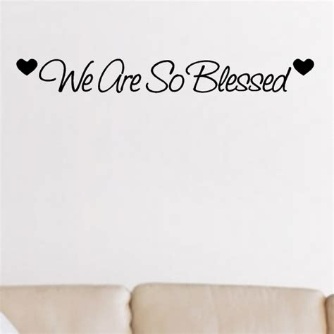 Light Bedroom Colors we are so blessed entryway wall quotes words decals
