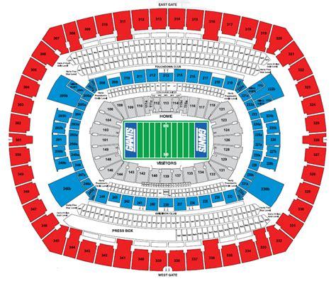 seating chart giants stadium seating chart