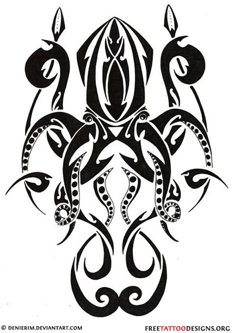 tribal squid tattoo 66 octopus designs