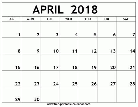 printable calendar 2018 quarterly printable monthly calendar april 2018 larissanaestrada com