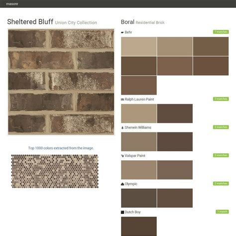 sheltered bluff union city collection residential brick boral behr ralph paint