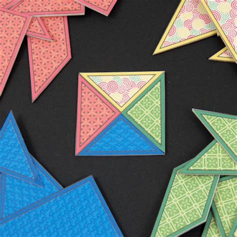 Paper Puzzles To Make - how to make tangram puzzles geometric toys to make