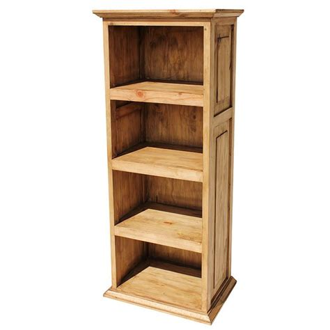 rustic pine collection small torres bookcase lib117