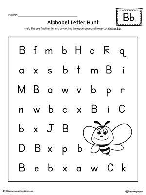printable alphabet letter search alphabet letter hunt letter b worksheet