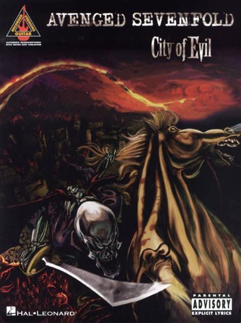Avenged Sevenfold City Of Evil A7x Kaos 2 Sisi Ukuran S hal leonard avenged sevenfold city of evil guitar tab woodbrass n 176 1 fran 231 ais