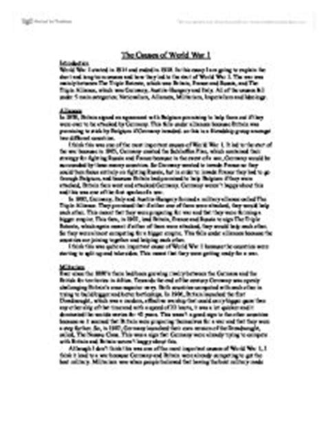 brief introduction to ww1 world war one essay intro world war i essay exle wwi research paper sle and