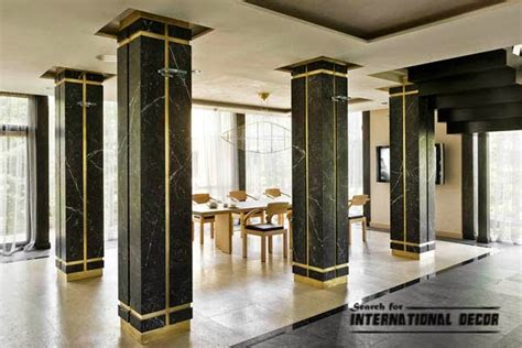pillar designs for home interiors decorative columns stylish element in modern interior