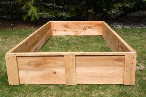 raised cedar garden bed cedar raised bed garden boxes made in the usa grow your