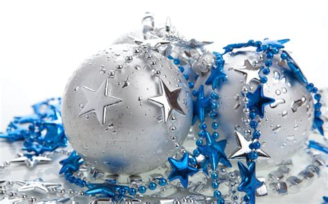 wallpaper christmas silver and blue balls