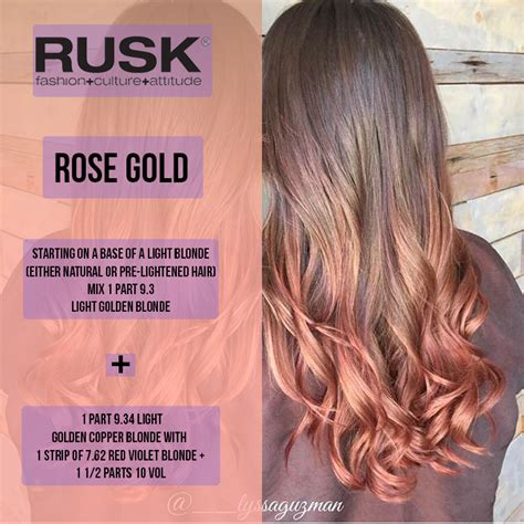 hair color formula rose gold isn t just for your jewlery hairinspo via