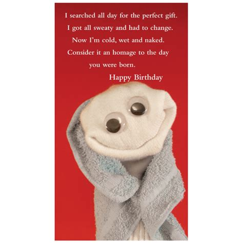 The Birthday Sock by Quiplip Happy Birthday Greeting Card From The Sock Ems
