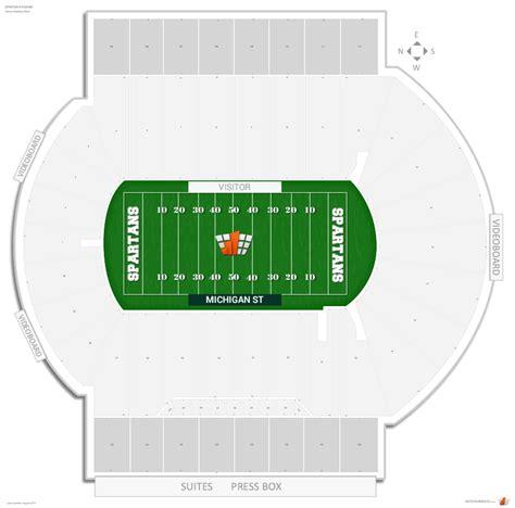 michigan state football seating chart spartan stadium michigan st seating guide