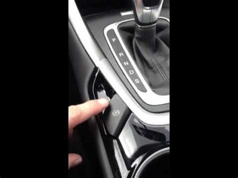 2013 ford fusion new parking brake youtube