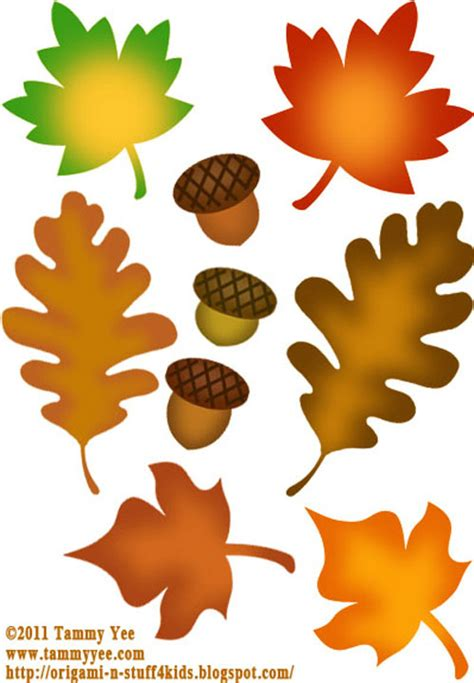 printable fall leaf decorations thanksgiving decorations clipart 52