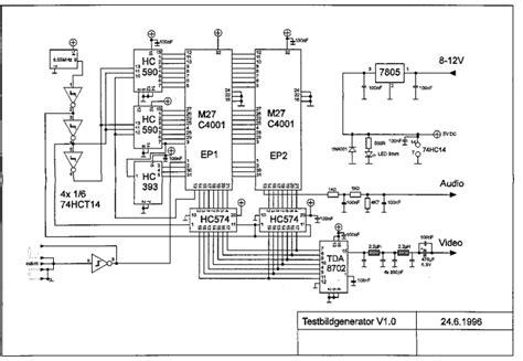 video pattern generator circuit video test pattern generator