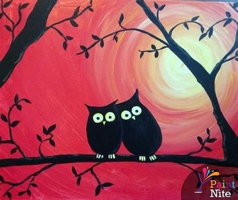 paint nite york events paint nite owl 1