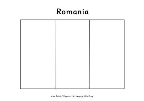 romania flag colouring page