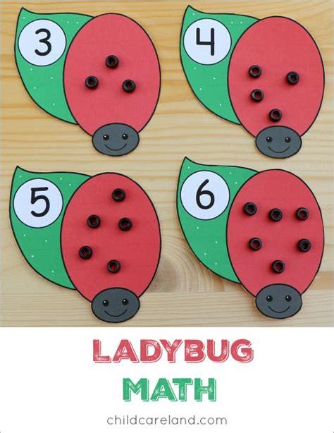 ladybug pattern for kindergarten ladybug math for counting and fine motor development