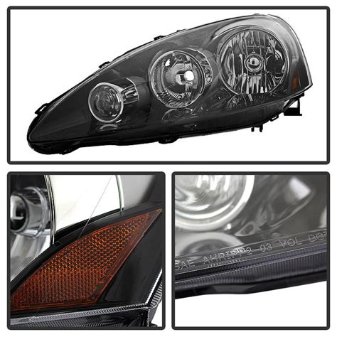 how to replace 2006 acura tl headlight 2005 2006 acura rsx crystal replacement headlights black