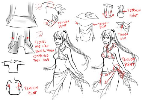 doodle drawing tips clothes folds tips by murasaki hana on deviantart