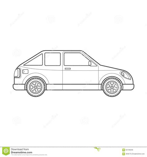 Outline Style Auto by Car Type Vector Illustration Icon Vector Cartoondealer 88188717