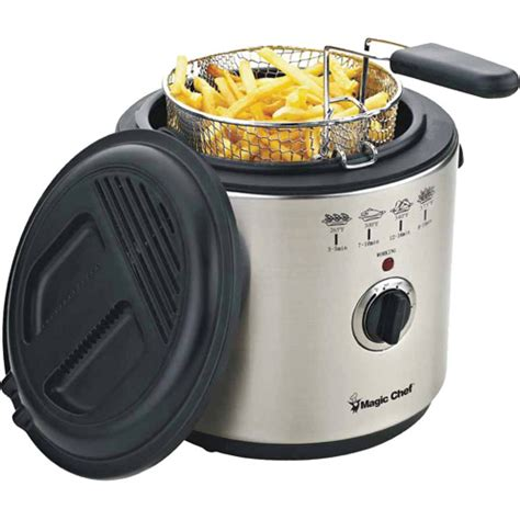 magic chef 6 cup stainless steel deep fryer walmart com