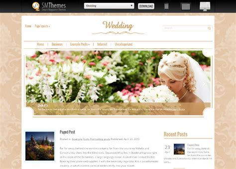 free wedding site templates 18 free wedding website themes templates free