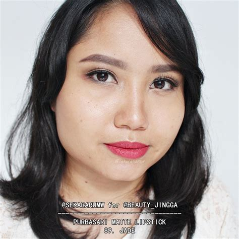 Lipstik Jade racun warna warni review swatch all shade purbasari