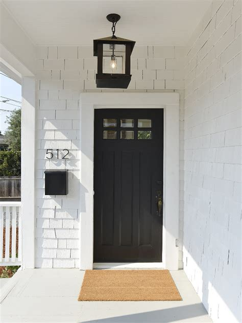 white exterior door small cottage with coastal white interiors home bunch