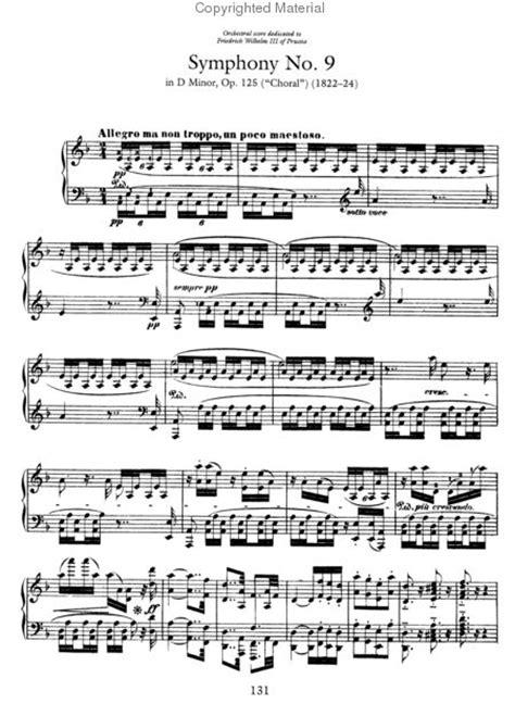 ludwig van beethoven music beethoven 9th symphony piano sheet music free beethoven