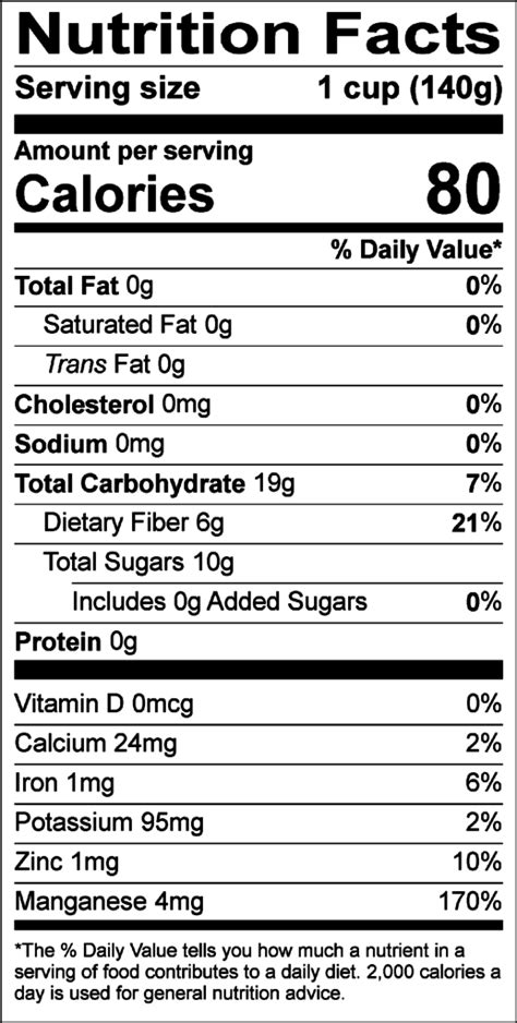 Blueberries Nutrition Facts Cooked   Nutrition Ftempo