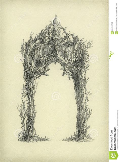 Handmade Drawing Paper - arch stock illustration image 56415704