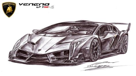 Lamborghini Drawing Lamborghini Veneno Lp750 4 Ultimate By Toyonda On
