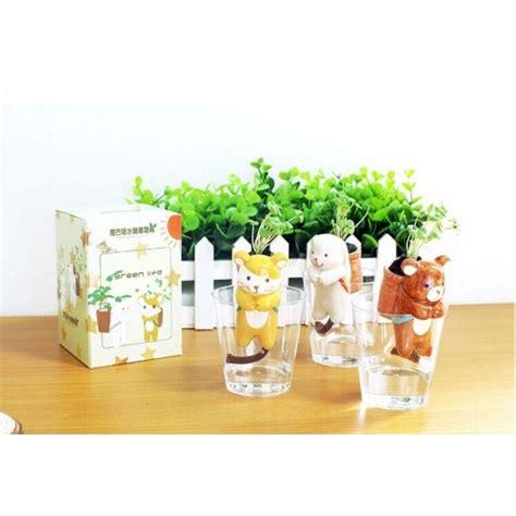 Jual Hiasan Meja Kantor Unik jual pot tanaman mini animal pot planter hiasan