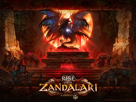world of warcraft rise rise of the zandalari blizzard official wallpaper world of warcraft photo mmosite com