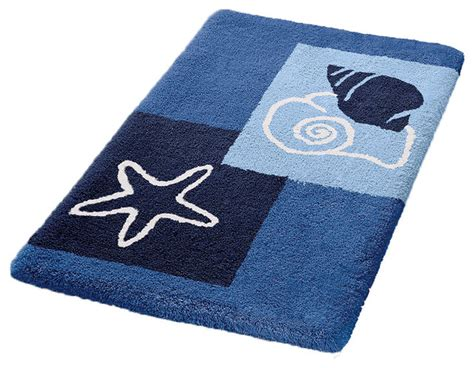 Navy Bathroom Rugs Vita Futura Navy Blue Non Slip Washable Bathroom Rug Select Bath Mats Houzz