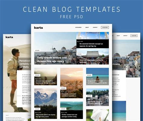cleaning blogs clean and simple blog templates free psd download