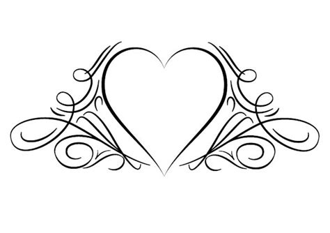 simple heart tattoos designs tattoo heart design fonts