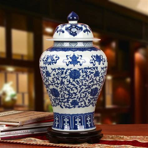 Blue And White America Style Ceramic Jars Antique Porcelain Temple Jars Home Decoration Reproduction Ceramic Jar Vase Antique Porcelain Temple Jars Home Decoration Blue And