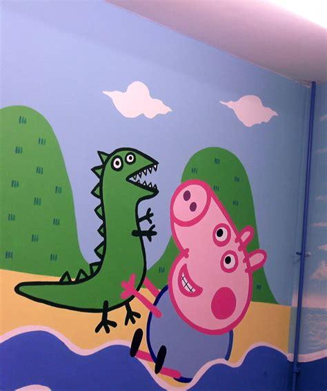 Peppa Pig Wall Mural peppa pig amp george kids art murals