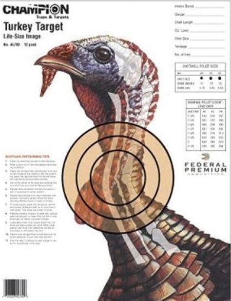 printable wild turkey targets accessible hunter march 2012